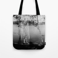 swimming Tote Bags featuring swimming  by Lydia Brodde