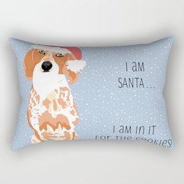 Santa the Coonhound Rectangular Pillow