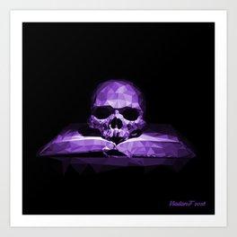 Memento mori - royal violet Art Print