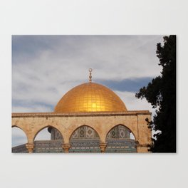 The Dome of the Rock, Old City of Jerusalem Canvas Print