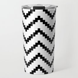 Tribal Chevron W&B Travel Mug