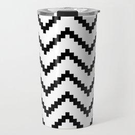 Tribal Chevron W&B Travel Mug