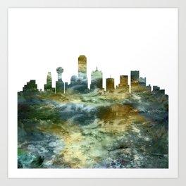 Dallas Skyline Texas Art Print