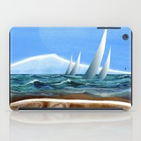 geology iPad Cases featuring The Geology of Boating by Patricia Howitt