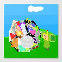 katamari Canvas Prints featuring Little Katamari by CatOverlord