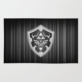 Zelda Black Shield Rug
