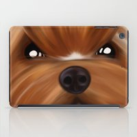yorkie iPad Cases featuring Yorkie face by Mario Laliberte