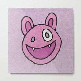 Slightly Amused Monsters, VII Pink Metal Print