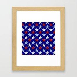 Patriotic Stars Framed Art Print