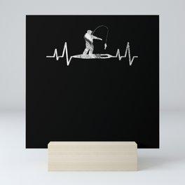 Ice fishing Heart Mini Art Print