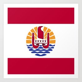 French Polynesia flag emblem Art Print