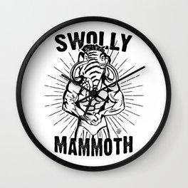 Swolly Mammoth  Wall Clock