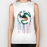 world cup Biker Tanks featuring Bleed World Cup by DesignYourLife