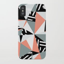 Modern Geometric 45 Pink iPhone Case