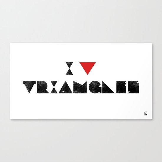I V TRIANGLES Canvas Print