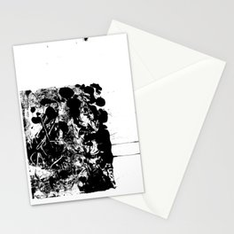 Black and White Abstract Art Stationery Cards