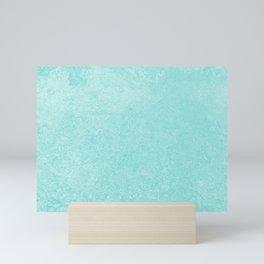 Pastel Teal Blue Grunge Ombre Pastel Texture Vintage Style Mini Art Print