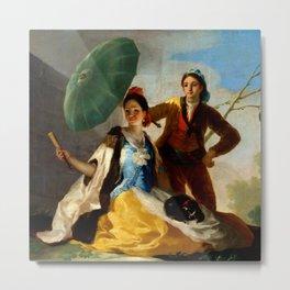 "Francisco Goya ""The Parasol (El quitasol) (The Sunshade)"" Metal Print"