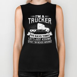 I'm a Trucker Truck Driver Vehicle Monster Truck Design Biker Tank