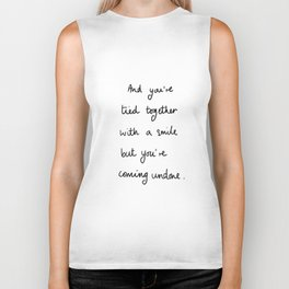Tied Together With A Smile Design Drawing Lettering Biker Tank
