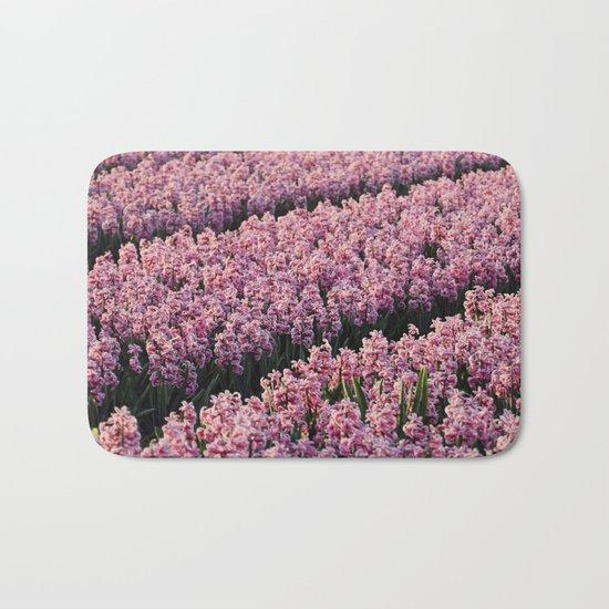 Hyacinth field Bath Mat