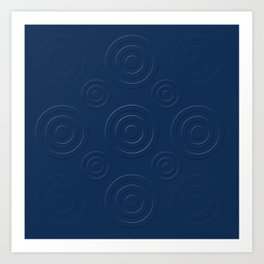 Prussian Blue Bull's Eye Art Print