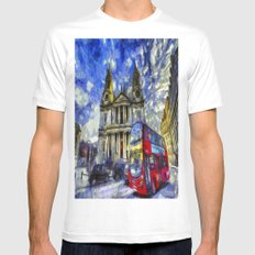 Vincent Van Gogh London White MEDIUM Mens Fitted Tee