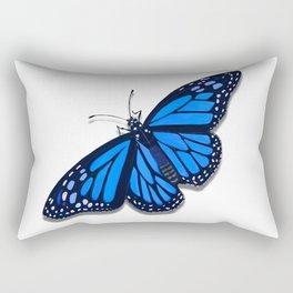 Blue Monarch Butterfly Rectangular Pillow