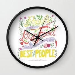 Julia Child Food Quotation Wall Clock
