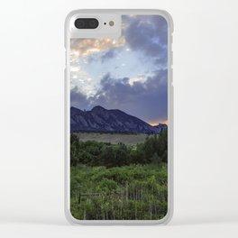 South Boulder Sunset Vista Clear iPhone Case