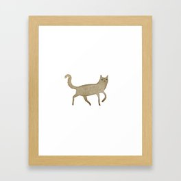 Suspicious-Looking Moggy Framed Art Print