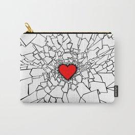 Heartbreaker III White Carry-All Pouch