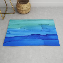 Alcohol Ink Seascape Rug