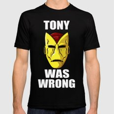 Tony Was Wrong Black MEDIUM Mens Fitted Tee