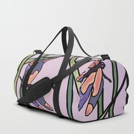 dragonflies in  a pastel color background Duffle Bag