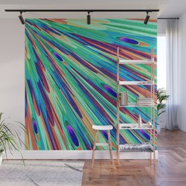 Peacock feather abstraction Wall Mural