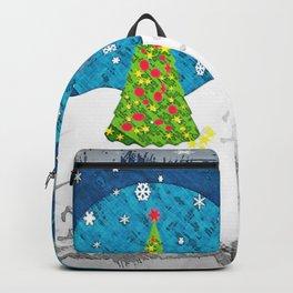 Snowman Heart Backpack