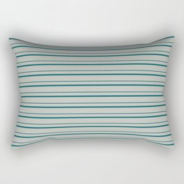 Benjamin Moore 2019 Color Beau Green on Color of the Year 2019 Metropolitan Horizontal Stripes Rectangular Pillow