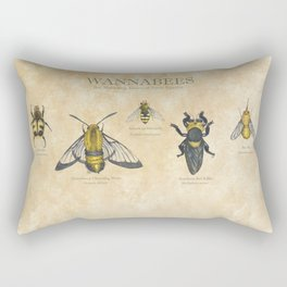 wannabees: Bee Mimicking Inects Rectangular Pillow