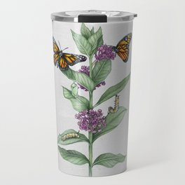 Monarch Butterfly Life Cycle Travel Mug