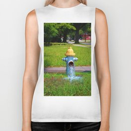 Fire Hydrant Gushing Water Biker Tank