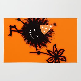 Evil Bug Halloween Party Rug