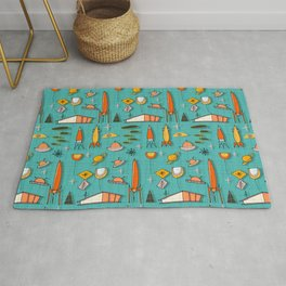 Space Age Blues #spaceage Rug