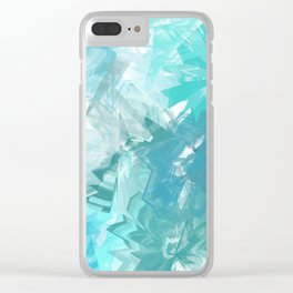 Floral Depth 1 Clear iPhone Case