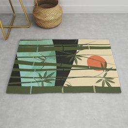 Bamboo curtain Rug