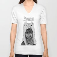 finn V-neck T-shirts featuring Finn by peter11532