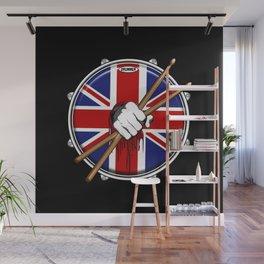 Brit Fist Drummer Wall Mural