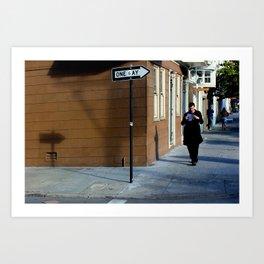 The Shadows Know  Art Print