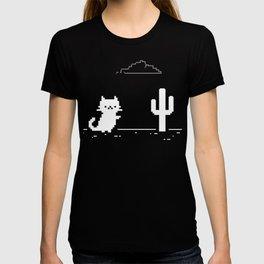 Offline Cute Pixel Cat - No Internet Connection T-shirt