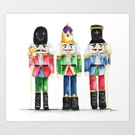 Three Little Nutcrackers Art Print